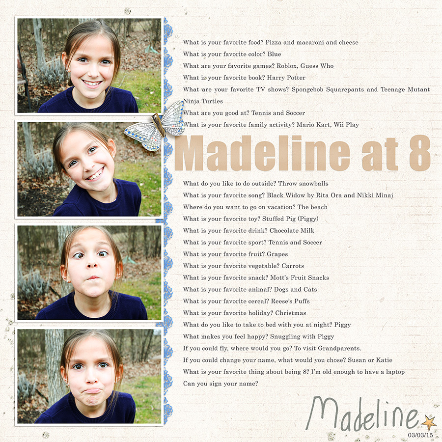 Madeline at 8
