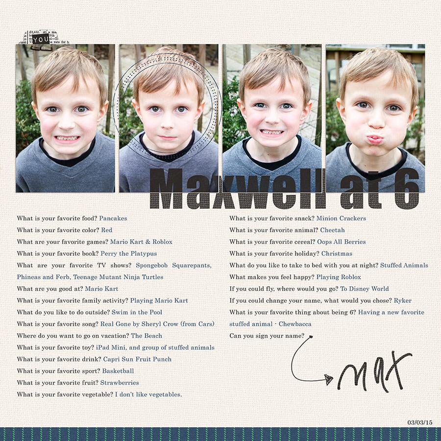 Maxwell at 6