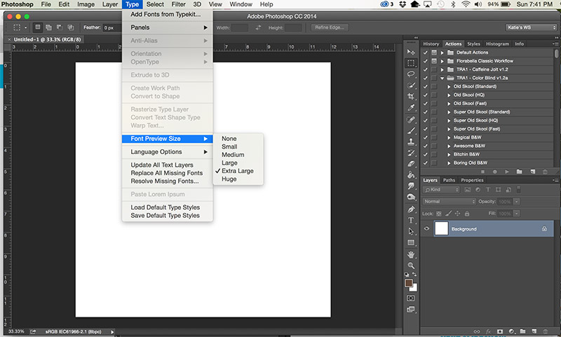 Tutorial Tuesday- Increasing Your Font Preview Size