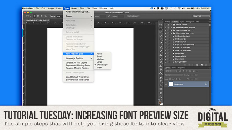 Tutorial Tuesday: Increasing Your Font Preview Size