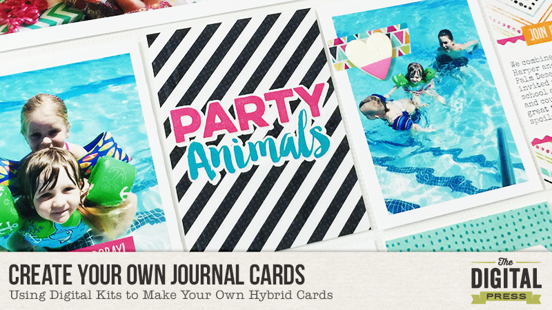 Create Your Own Journal Cards with Digital Kits