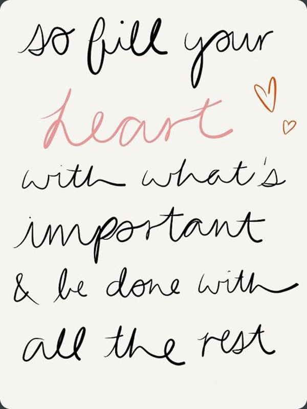 fill your heart