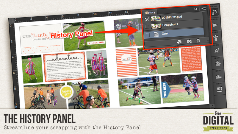 HistoryPanel Header
