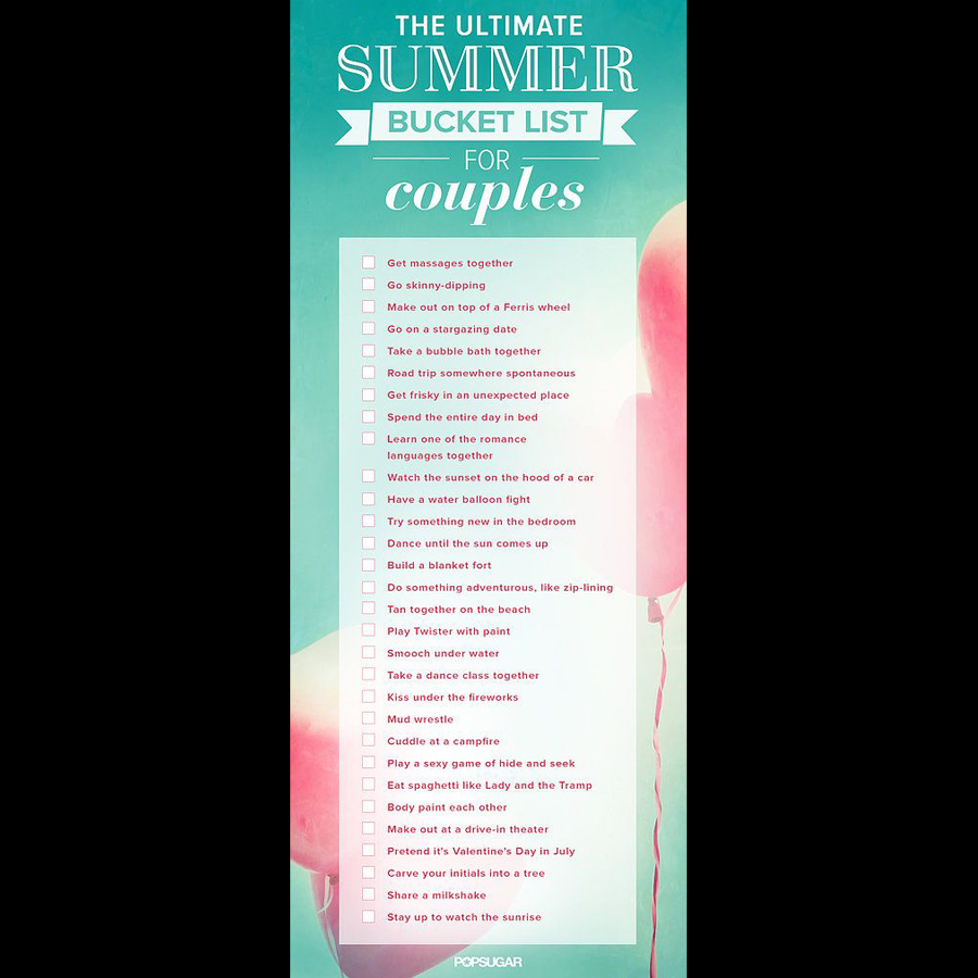 summer bucket list for couples
