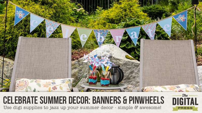 Celebrate Summer Decor: Banners & Pinwheels You Can Make