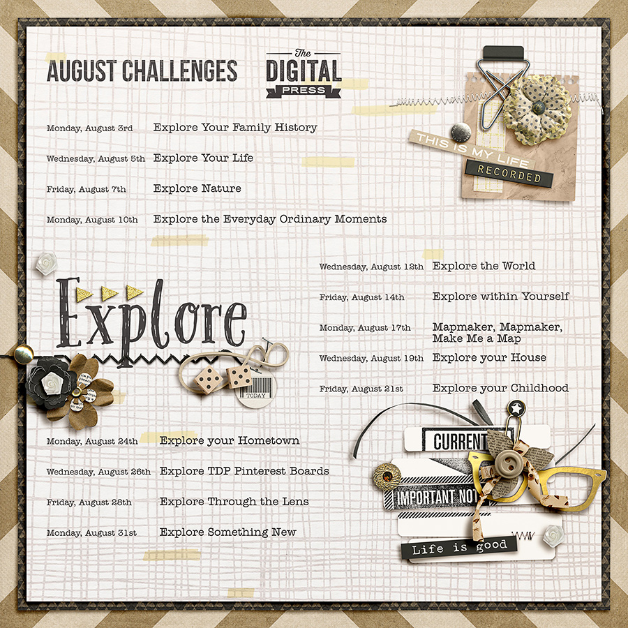 August Word of the Month - Explore