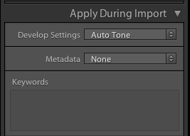 Develop Settings