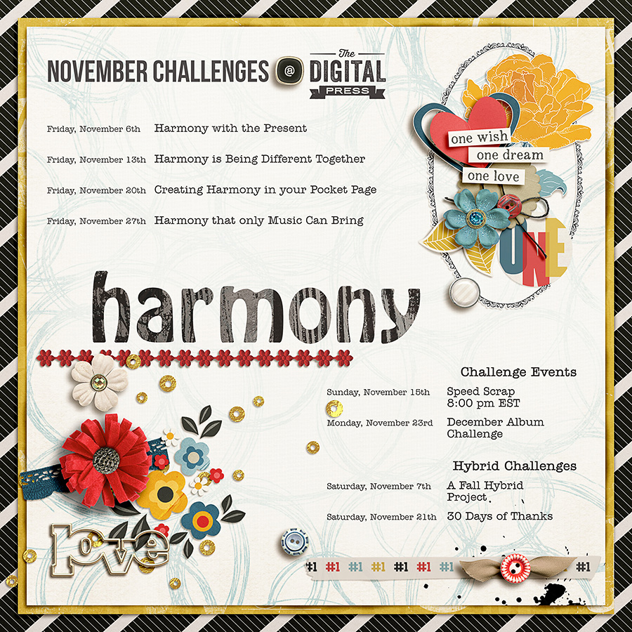 Live in Harmony - Challenges