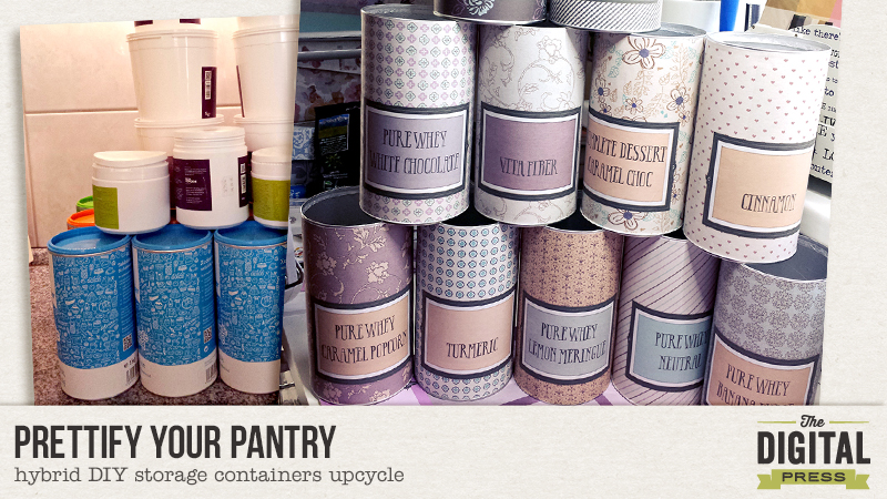 Prettify Your Pantry U2013 Hybrid DIY Storage Containers Upcycle