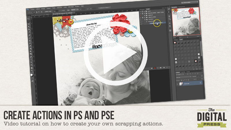 Create Actions in PS and PSE