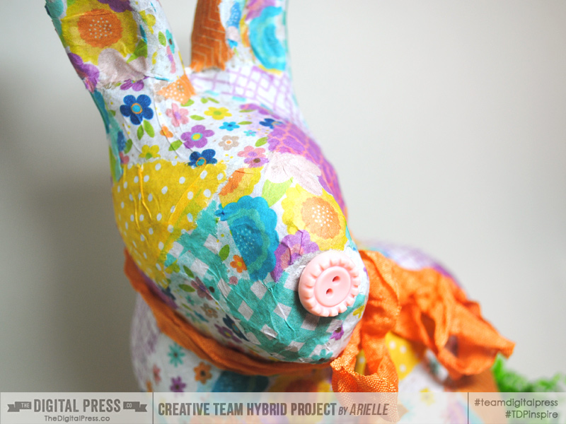HYBRID: Tissue Decoupaged Bunny