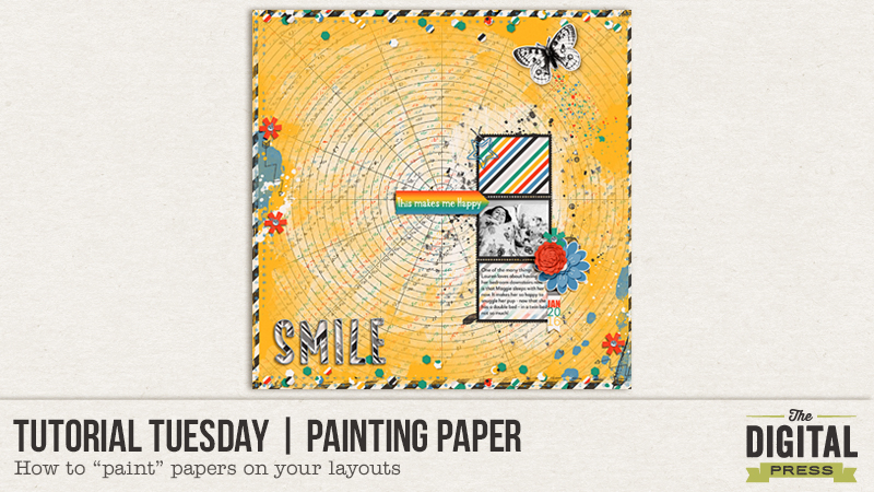 Tutorial Tuesday | Painting Paper