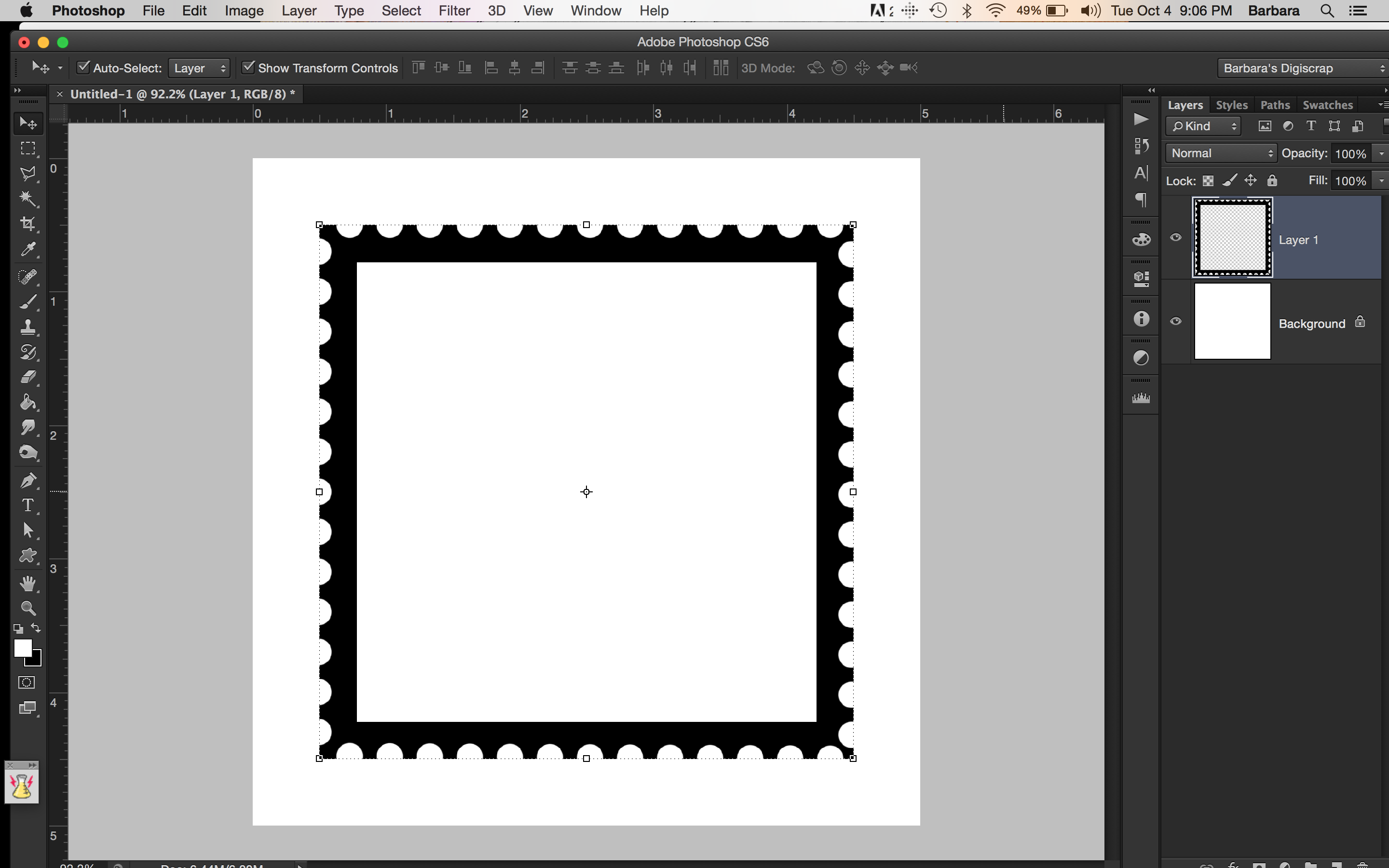 Tutorial Tuesday   Create Your Own Postage Stamp Frame   The Digital ...