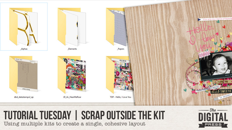 Scrapping from Multiple Kits tutorial from The Digital Press